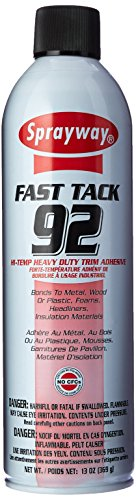 Sprayway SW092 Fast Tack 92 HI-Temp Heavy Duty Trim Adhesive, 13 oz