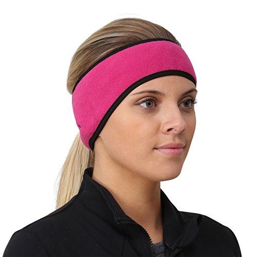 TrailHeads Women's Ponytail Headband - (Fleece Spandex Headband)