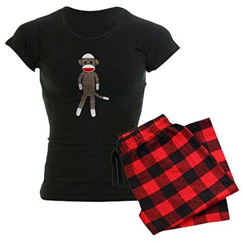 CafePress Sockmonkey 03_Jess Womens Novelty Cotton Pajama Set, Comfortable PJ Sleepwear ()