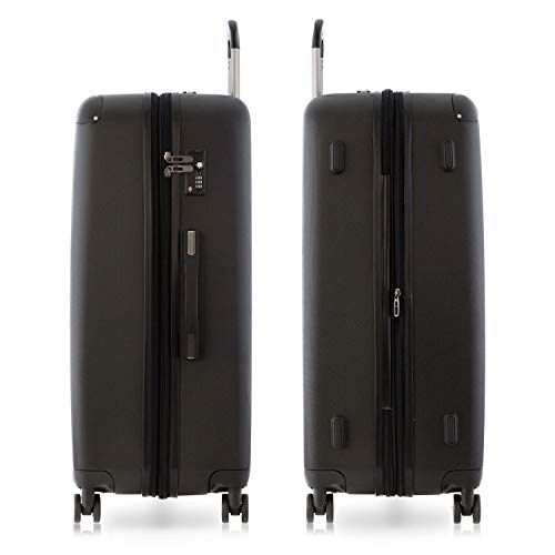 Happy Trolley Luggage Set, Black (Schwarz), 76 centimeters