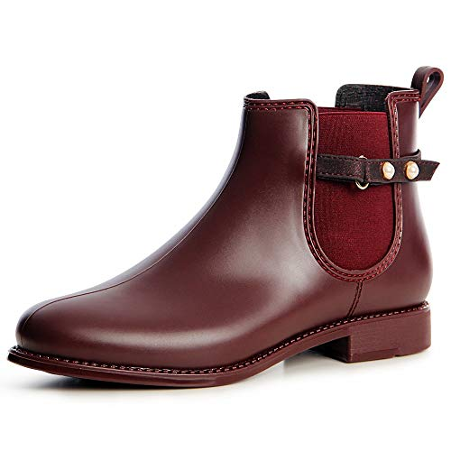 Boots Botín Botines Topschuhe24 Mujer Burdeos Chelsea qUIwYS