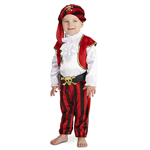[Arrrgh! Pirate Toddler Costume 2-4T] (Toddler Boys Pirate Costumes)