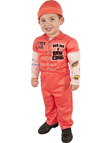 Busted Cop Costumes (Rubies Costume Child's Muscle Man Prisoner Costume, X-Small, Multicolor)