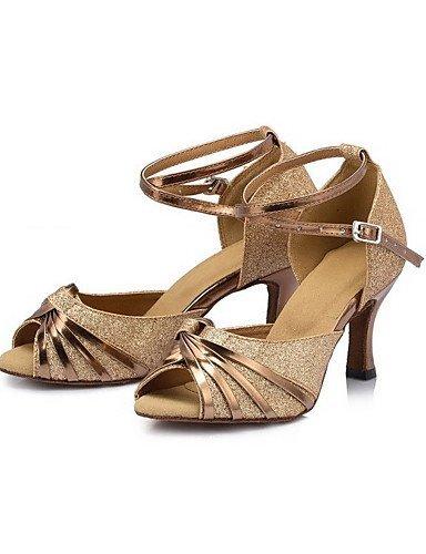 ShangYi Chaussures de danse ( Autre ) - Non Personnalisables - Talon Cubain - Satin - Latine Purple