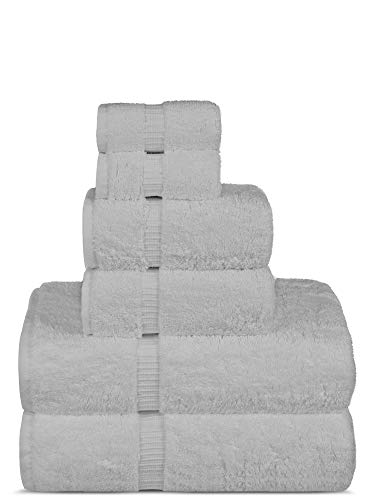 Chakir Turkish Linens Luxury Spa and Hotel Quality Premium Turkish Cotton 6-Piece Towel Set (2 x Bath Towels