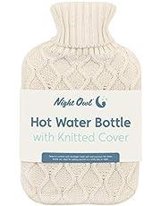 Nacht Uil 60869 Hot Water Fles met Grijs Faux Bont Cover