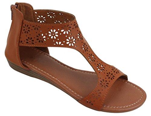 Zippered Women Sandals - 6