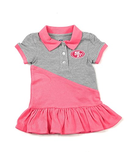 Outerstuff San Francisco 49ers Football Pink Girls Good Sport Polo Dress Clothing Apparel