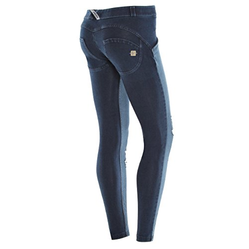 Jeans Amarillo Large Talle Pitillo Wr up® Delantera De Scuro costuras Con Bajo True Parte Rotos Freddy Denim Rxq4T7wZw