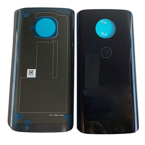 Eaglewireless Compatible Rear Panel Cover Back Glass Replacement Parts for Motorola Moto G6 Plus XT1926-7 XT1926-6-Black (Not fit Moto G6)