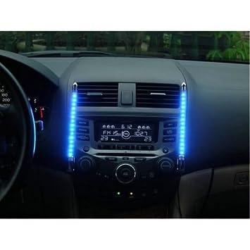PREMIUM Auto Innenraum Beleuchtung BLAU mit Musik Sensor - LED ...