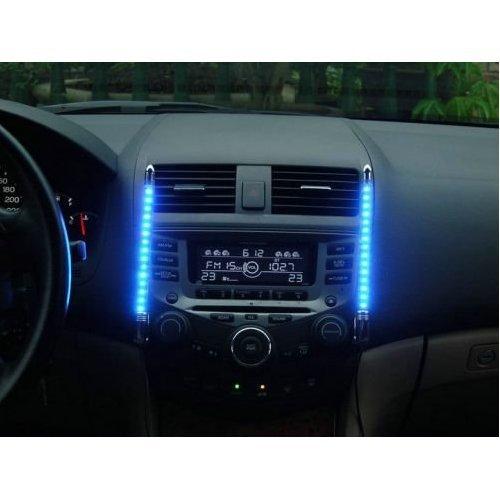 Auto Innenraum LED Beleuchtung mit Musik Sensor BLAU