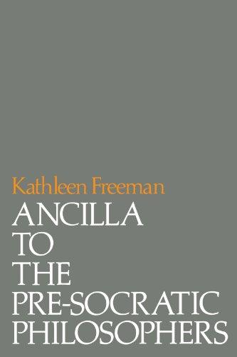 Ancilla to Pre-Socratic Philosophers