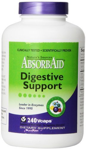AbsorbAid Aid for Digestion and Stomach Distress Veggie Capsules, 240 Count by -