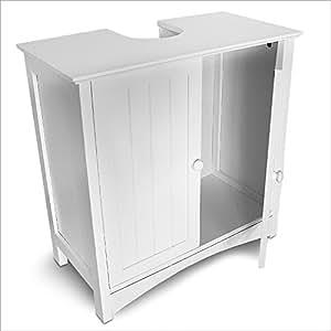 Aparador de baño, para debajo del lavabo, mide: 60 x 60 x 30 cm, Blanco, Material: MDF