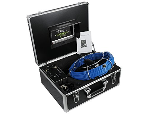 Cámara de inspección de tuberías con DVR / Cámara industrial de endoscopio con monitor LCD de 7 pulgadas Cámara Sony CCD...