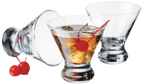 Serve Weight Watchers Pumpkin Mousse in Libbey 4-Piece Cosmopolitan Cocktail/Martini Glasses, 8.25 Ounce, Clear