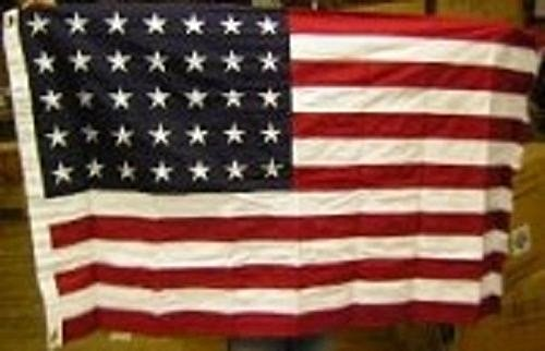 3x5 Embroidered Sewn 35 Star Linear Great Union USA Cotton Flag 3'x5' Banner