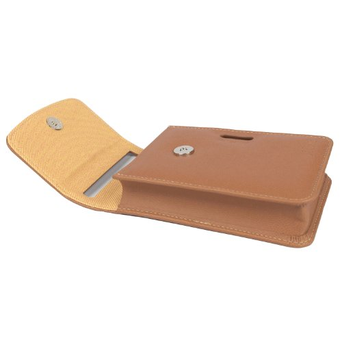 Atout Premium Vintage Synthetic Leather Cover Case [Brown] for LG PD239 Pocket Photo Printer Case Photo #5