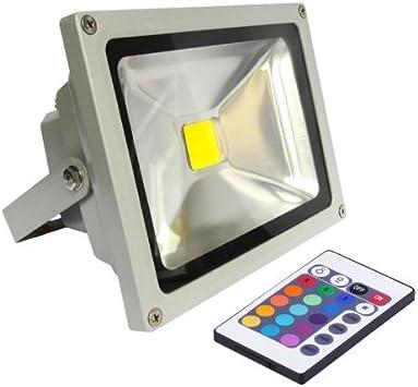 amzdeal® LED Foco proyector 20W RGB Bombillas led 20W, foco ...
