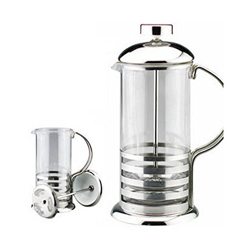 MAZIMARK--800ml Stainless Steel French Press Coffee Cup Tea Maker Cafetiere Filter New