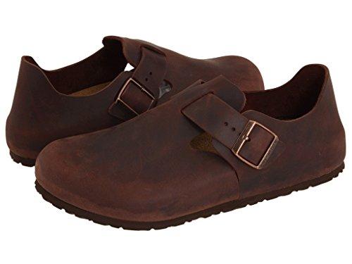 Birkenstock Unisex London Clog Adjustable Strap Slip On Loafer Shoe, Habana Oiled Leather, 41 by Birkenstock