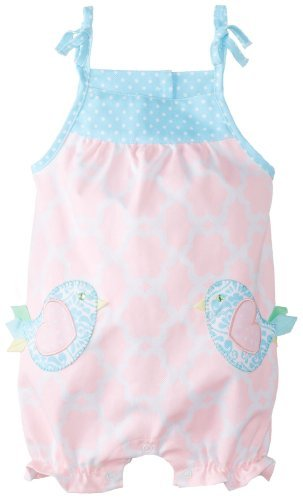 Mud Pie Baby-Girls infantil Little Chick burbujas pelele, Rosa, 12 – 18
