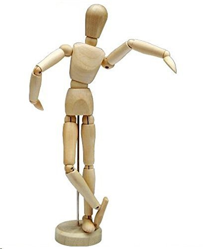 HSOMiD 12'' Artists Wooden Manikin Jointed Mannequin Perfect for Home Decoration/Drawing The Human Figure