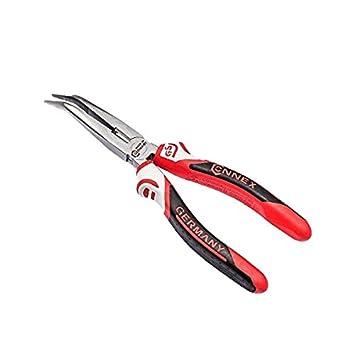 Connex COXT175200 Pinza Becchi Semitondi Curvi 200 mm in Acciaio Speciale per Utilizzo Professionale Impugnatura Ergonomica con Rivestimento Premium in Tre Componenti