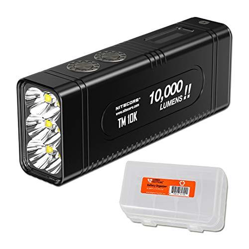 NITECORE TM10K Tiny Monster 10,000 Lumen Burst Rechargeable Flashlight with LumenTac Battery Organizer by Nitecore (Image #7)
