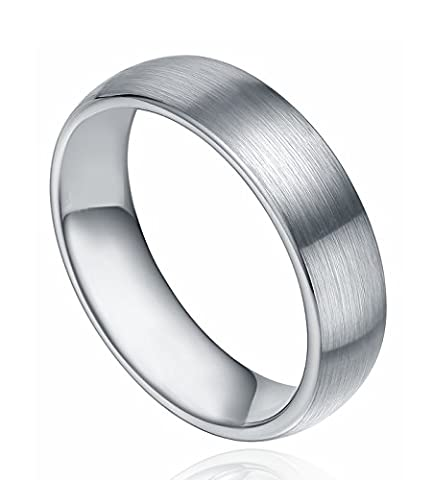 Greenpod Jewelry 6mm Tungsten Carbide Wedding Band Domed Round Brushed Comfort Fit (8)