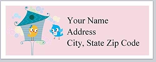 (120 Personalized Return Address Labels Primitive Country Birds Birdhouse (bx 76))