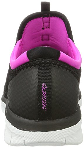 Skechers Synergy 2.0-Mirror Image, Formateurs Femme Noir (Black/pink)