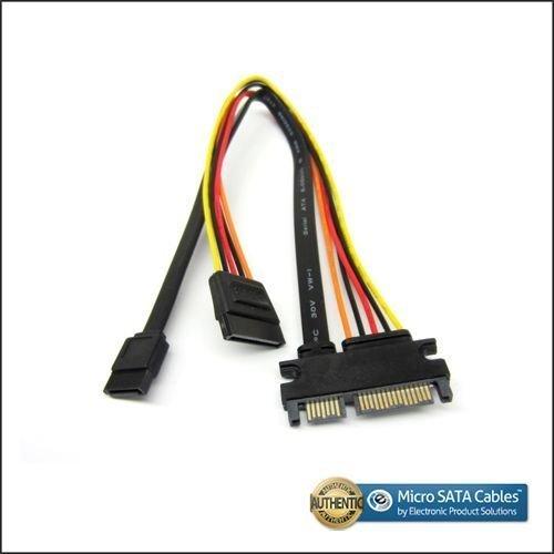 7 Pin Video Cable (SATA 22 Pin Male to SATA III 7 Pin and 15 Pin SATA Female - 12)