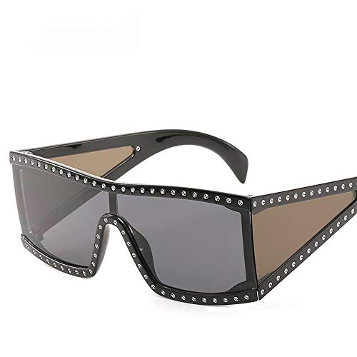 ses Women Big Framed Sunglasses With Diamond Sunglasses And One-piece Sunglasses ()