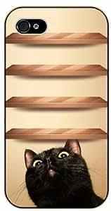 iPhone 6 Curious cat under wood shelves - black plastic case / Nature, Animals, Places Series by icecream design