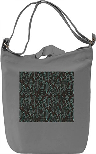 Leaf Pattern Borsa Giornaliera Canvas Canvas Day Bag| 100% Premium Cotton Canvas| DTG Printing|