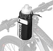 ROCKBROS Bike Water Bottle Holder Bag Bicycle Bag Handlebar Cup Drink Holder Insulated Stem Bag Food Snack Bik