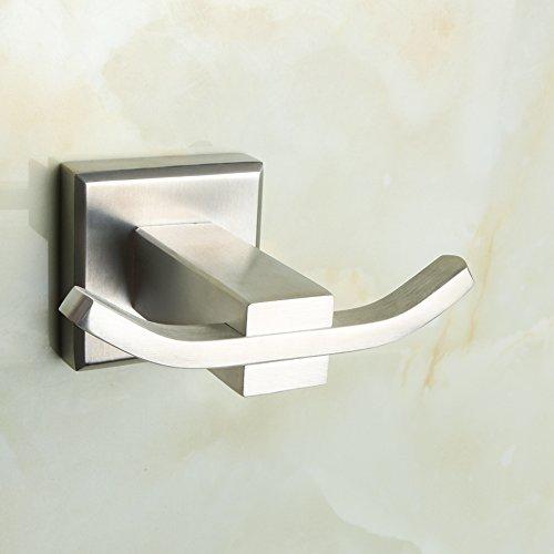 Villa Towel Rail (Alise G3907-F Towel Hook Bathroom Double Robe Coat Hook Wall Mount,SUS304 Stainless Steel Brushed Nickel)