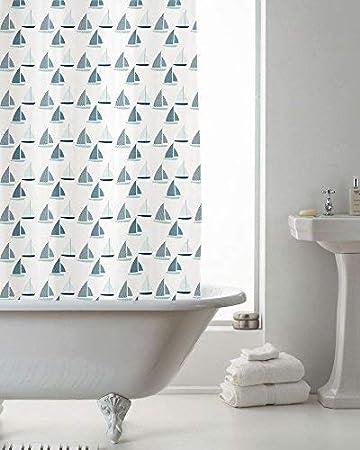 Luxus Modern Yachten Boote Badezimmer Dusche Drapiert Vorhang Grun