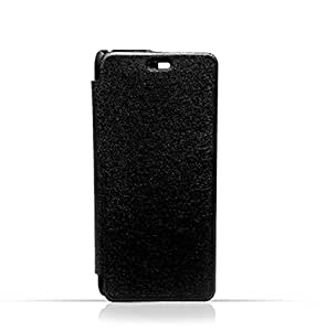 Samsung S6 Black Frosted PU Leather Flip Cover