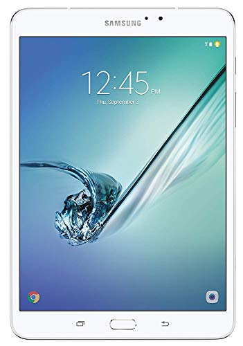 Flagship Samsung Galaxy Tab S2 8″ 2048 x 1536 QXGA Super Touchscreen Tablet, Octa-core(1.8GHz Quad + 1.4GHz Quad) APQ8076 3GB RAM 32GB ROM WiFi Bluetooth v4.1 3.5mm Stereo Android 6.0- White/Gold