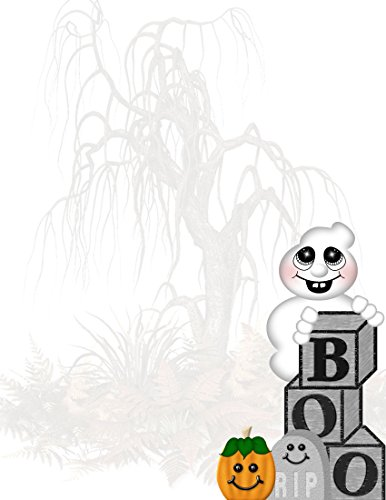 Halloween Boo Ghost Stationery Printer Paper 26 Sheets ()