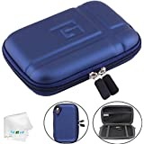 5.2 inch Hard Carrying Case Waterproof GPS Case Protective Pouch Storage Bag Compatible with 5' Navigator Garmin Nuvi 2589LMT 52lm 55lm 2450 2460 2595lmt 2559LMT 1450t Tomtom Magellan Roadmate Blue