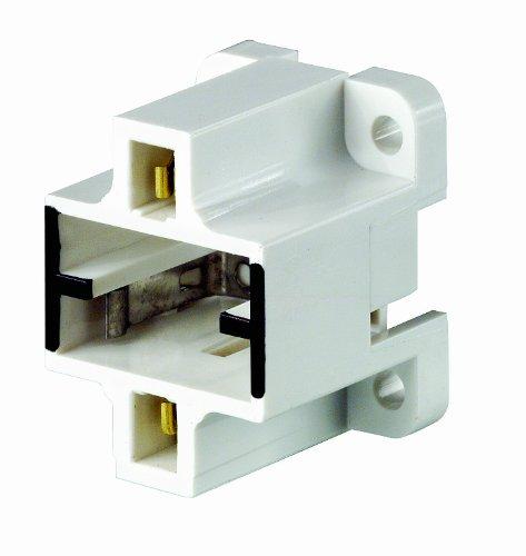 Leviton 26720-400 Gx23, Gx23-2 Base, 2-Pin, Compact Fluorescent Lampholder 2 Base Compact Fluorescent Holder