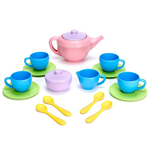Toy Tea Set by Green Toys, FDA Approved Tea Set