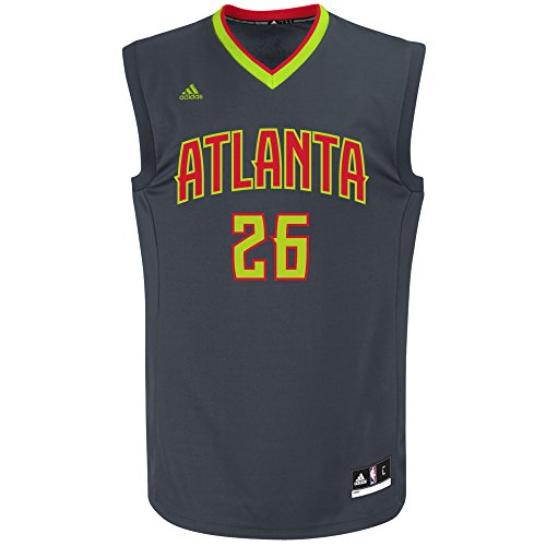 NBA Men's Atlanta Hawks Kyle Korver Replica Jersey, Large, Grey