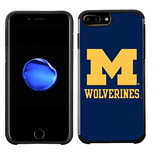 - Prime Brands Group Textured Team Color Cell Phone Case for Apple iPhone 8 Plus/7 Plus/6S Plus/6 Plus - NCAA Licensed University of Michigan Wolverines