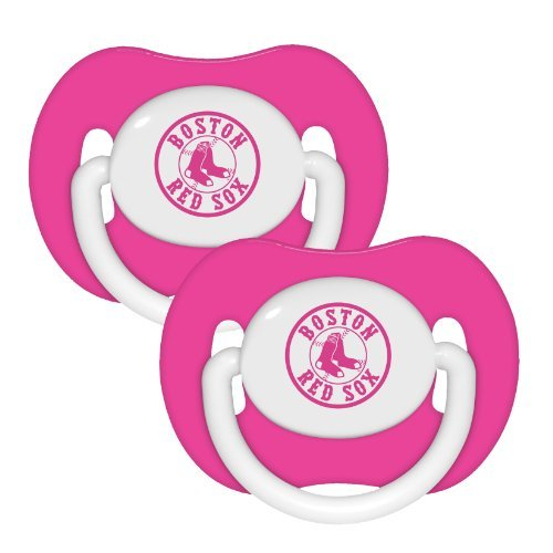 Boston Red Sox Pink 2-pack Infant Pacifier Set - 2014 MLB Baby Girl Pacifiers