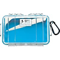 Pelican 1050-026-100 Small Case with Clear Lid and Carabineer (Blue)